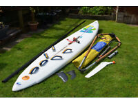 Complete Beginners Windsurfing Set Ready to Use / Board, Sail, Mast, Boom ect...