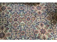 Lovely large Persian wool rug 330x226cm will be steamed clean