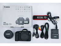 Canon EOS 7D 18.0MP Digital SLR Camera Body Kit in Black with 18-135mm IS Lens