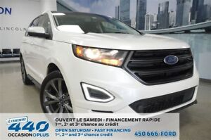 2017 Ford Edge Sport | 2.7L, AWD, CUIR, TOIT, NAVIGATION