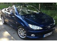PEUGEOT 206cc ALLURE 1.6 CABRIOLET CONVERTIBLE ELECTRIC ROOF, CHEAP SUMMER CAR FOR THE SUN, BE QUICK
