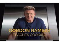 Gordon Ramsay -Masterclass - Teaches You To Cook - Online Video Programme Coupon