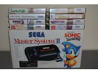 Sega Master System 2 with built-in Sonic the Hedgehog and 8 other games