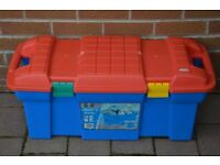 Zag plastic storage chest/trunk. 56 ltr capacity. Hinged lid, or can be totally removed. £20