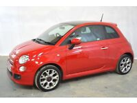 FIAT 500 S 1.2 PETROL - ONE OWNER - GREAT SPORTY LITTLE CAR - CHEAP TO RUN - INCLUDES WARRANTY