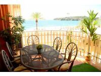 Mallorca southwest - Large 2 bd , 2 bathr. Apartment on top of the beach with stunning views
