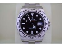 Rolex Explorer II Black Dial Stainless Steel - SW2836