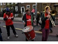 Live music group required by Shelter to volunteer at the London Marathon