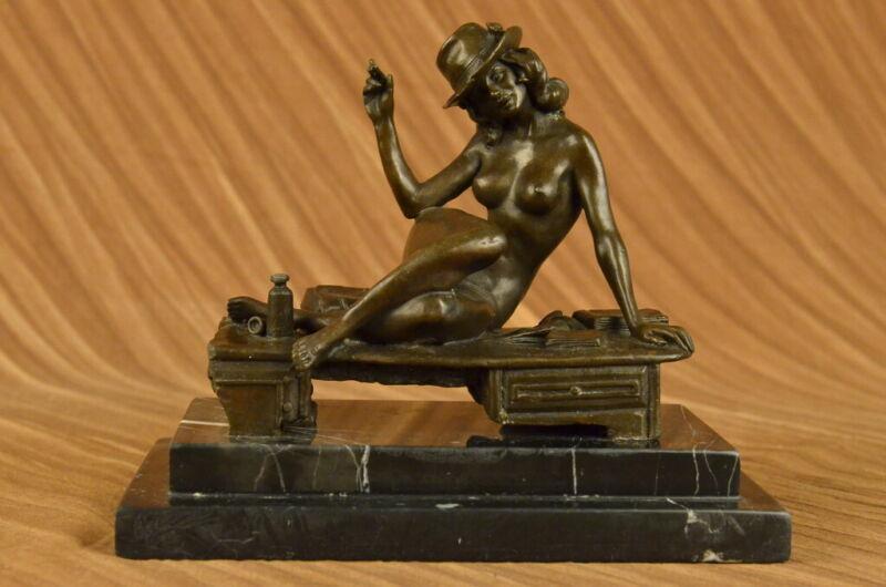 Handcrafted bronze sculpture With Dancer Burlesque Vitaleh Original Signed Decor