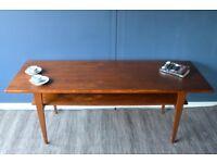 Vintage large Danish two-tear teak coffee table. Delivery. Modern / midcentury.