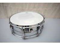 Vintage metal snare drum made in Japan
