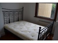 Black Double Bed Frame - Must Go! Open to offers