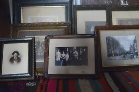 Group of Victorian photographs in original frames