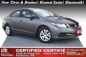 2013 Honda Civic Sedan LX No Accident! New Tires & Brakes! Heate