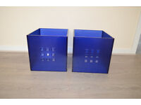 2 X IKEA LEKMAN STORAGE BOXES GREAT FOR BOOK CLOTHES TOYS