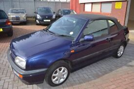 VW GOLF MK 3 CABRIO 1997 CLASSIC 1.8 MANUAL