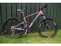 """Giant Anthem X 100 mm Full Suspension Mountain Bike - size small, suitable up to 5' 7"""" (170 cm)"""