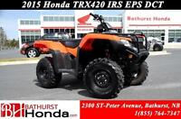2015 Honda TRX420 EPS-IRS-DCT Electric Power Steering! Independa