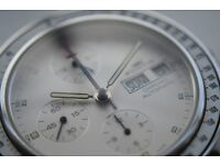 Fortis Stratoliner automatic mechanical chronograph wristwatch - Swiss - Circa '91 - New old stock