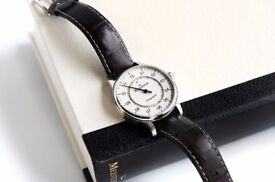 Meistersinger Perigraph AM1003 Wrist Watch Cream ivory Boxed 43mm £749