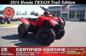 2014 Honda TRX420 Trail Edition! Electronic Shift! Power Steerin