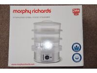 Morphy Richards 3 Tier Steamer - Stainless Steel 470001 - RRP £30 at £20 ono Food Steamer