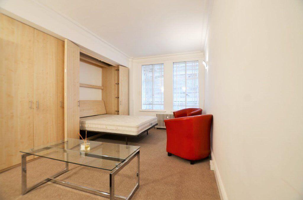 Spacious studio apartment in Marylebone