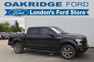 2017 Ford F-150 ONE OWNER LARIAT, HEATED/COOLED LEATHER SEATS, M
