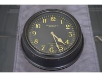 Clock - Black with yellow numbers
