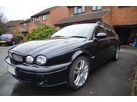 Jaguar X-Type 2.2 Sports Premium Estate. All black with charcoal interior. MOT till Jan 2018