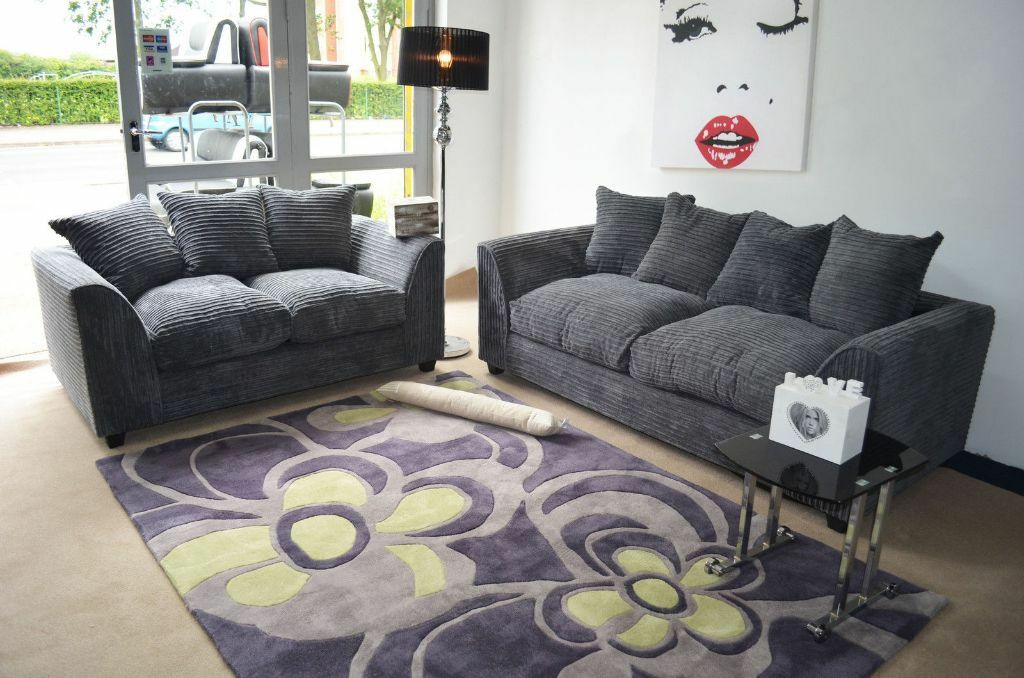 Uk Express Delivery Dylan Jumbo Grey 3 2 Sofa 1 Year
