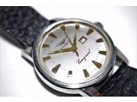 Longines Conquest Date automatic mechanical wristwatch - Cal 19 - 1960s
