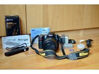 Nikon D80 with 18-135mm lens, remote, bag and accessories