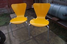 RETRO LOOK CHAIRS X2