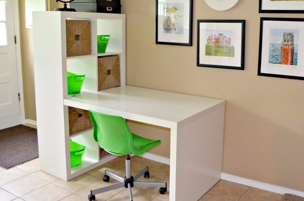 Expedit Kallax Desk Attachment White In Dunfermline