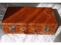 Vintage and original 1940 50's (retro) style Pioneer Luggage hard suitcase.