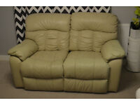 2 seater leather sofa reciling, can deliver, good condition. price reduced