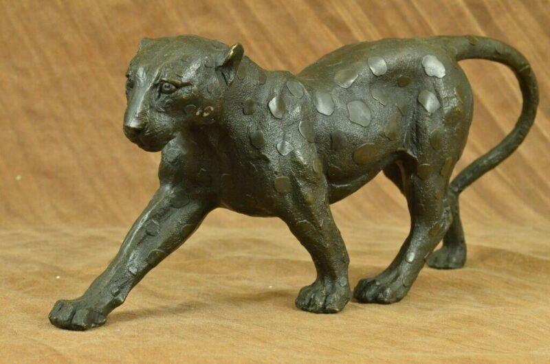 Handmade Vintage Bronze Home Art Deco Cat Statue Plinth Rembrandt Bugatti statue