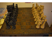 Vintage huge chess set, lovely