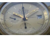 Lemania/Omega Philip Morris automatic chronograph mechanical wristwatch-Swiss - Cal 1341 - GP - '70s