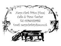 Cello / Piano Teacher