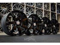"*Refurbished* Genuine 18"" Mercedes AMG C-Class W204 Staggered Alloy Wheels 5x112 Gloss Black"