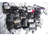 POINT & SHOOT 35MM FILM CAMERAS + OTHERS. JOBLOT OF 30. BETTER & CHEAPER THAN DISPOSABLE CAMERAS