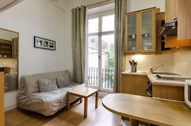 AIR CONDITIONED split level studio apartment in PIMLICO, CENTRAL LONDON. FREE WIFI and SKY TV.