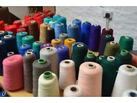 Bargain bags of Vintage Mill Wool and Yarn - over 550 spools in assorted colours