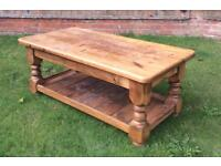 Vintage Solid Pine Coffee Table