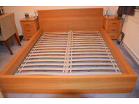 IKEA Malm Bed frame Oak veneer - Standard King size