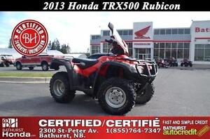 2013 Honda TRX500 Rubicon Certified!