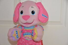 Fisher Price Dance & Play Laugh & Learn - dancing and singing puppy in Pink. Make me an offer!