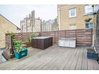 STUNNING LARGE SPLIT LEVEL 2BED FLAT IN HOXTON ** FURNISHED ** PRIVATE TERRACE **